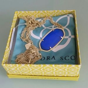 Kendra Scott Cobalt Cat's Eye Blue Rayne necklace